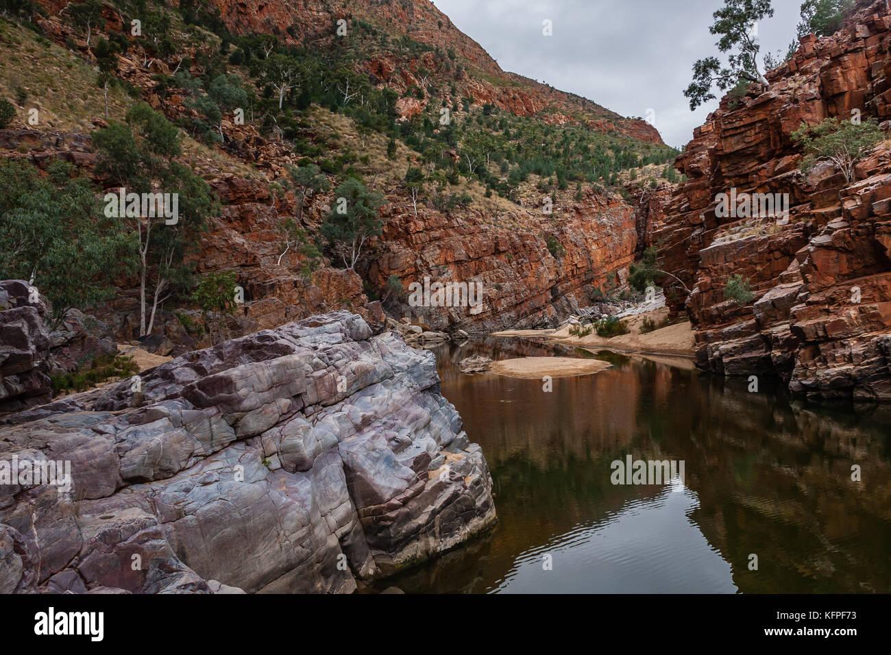 Ormiston Gorge, West MacDonnell Range National Park, Northern Territory, Australia - Stock Image