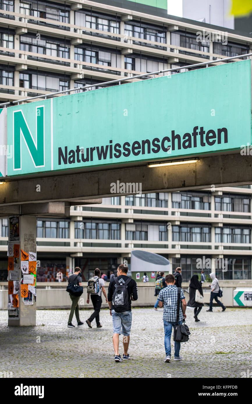 Ruhr University in Bochum, Germany, campus, - Stock Image