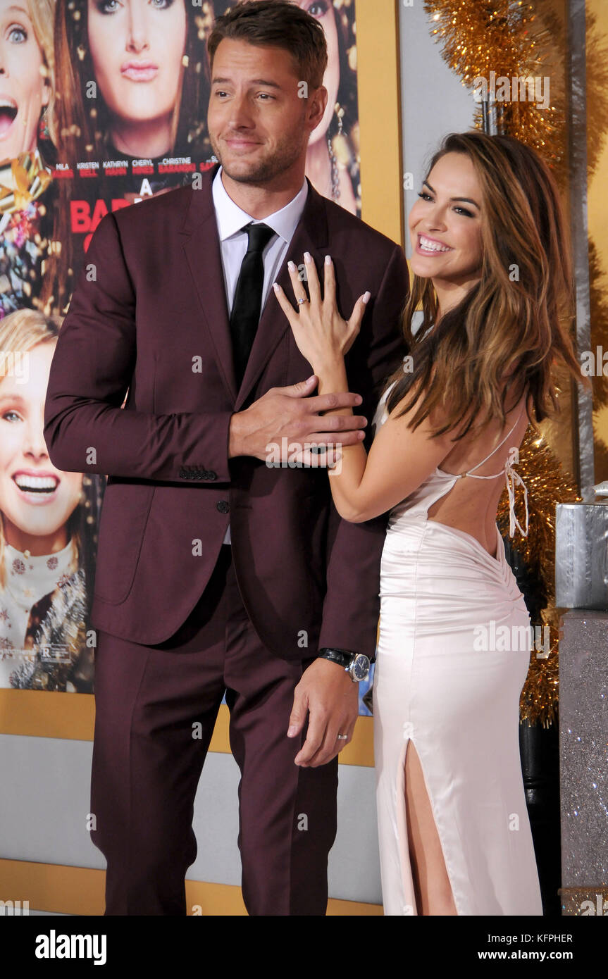 A Bad Moms Christmas Justin Hartley.Westwood Ca Usa 30th Oct 2017 Justin Hartley Chrishell
