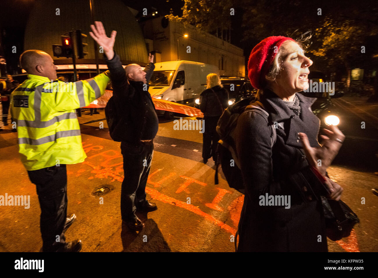 London, UK. 31st Oct, 2017. 'Stop Killing Londoners' environmental campaign activists perform a direct action road Stock Photo