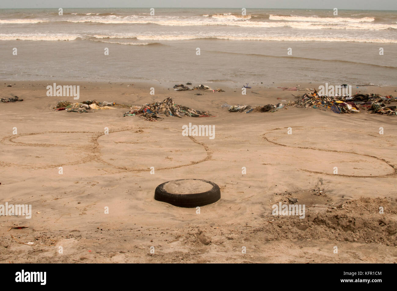 Beach in Accra Stock Photo