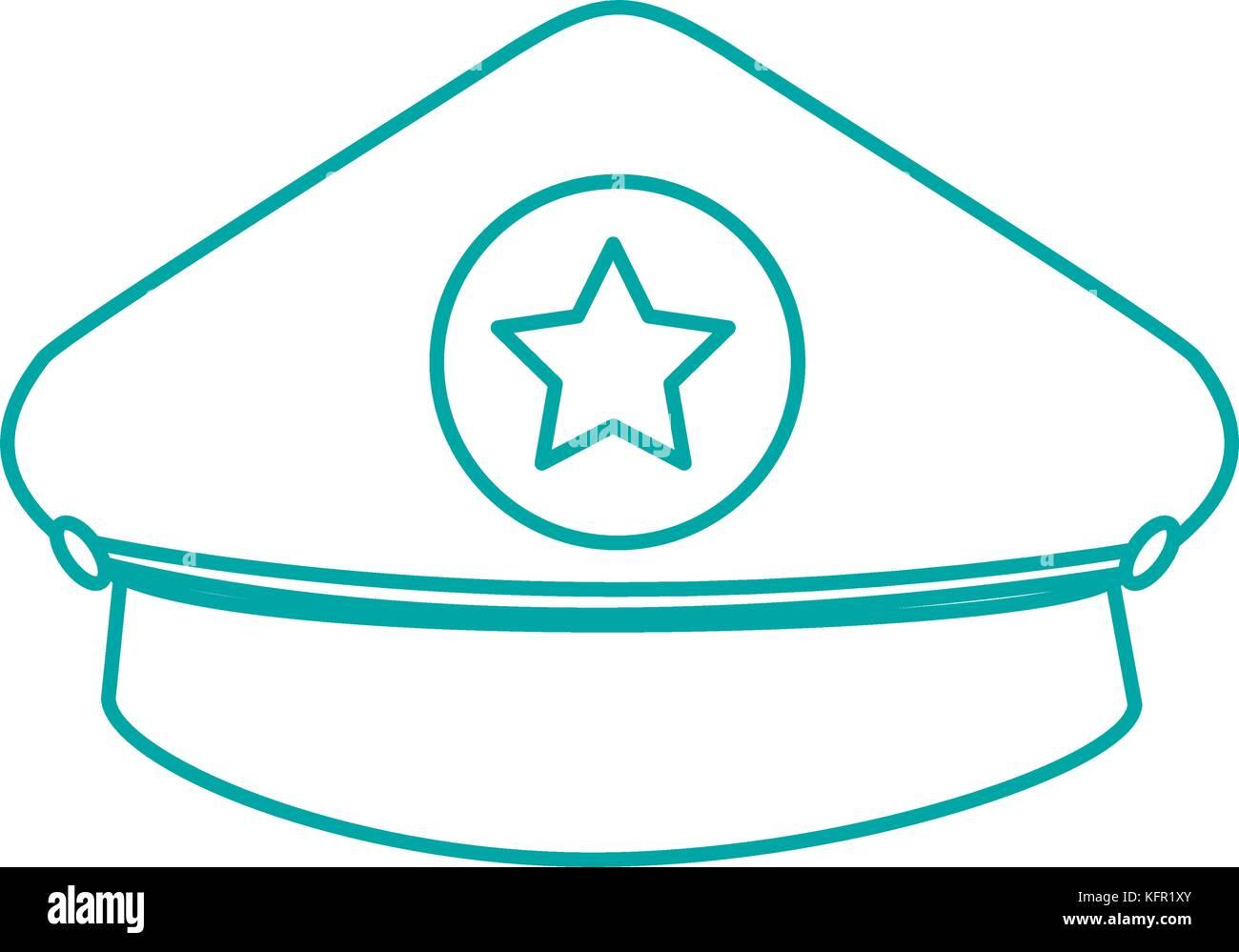 police cap icon - Stock Image
