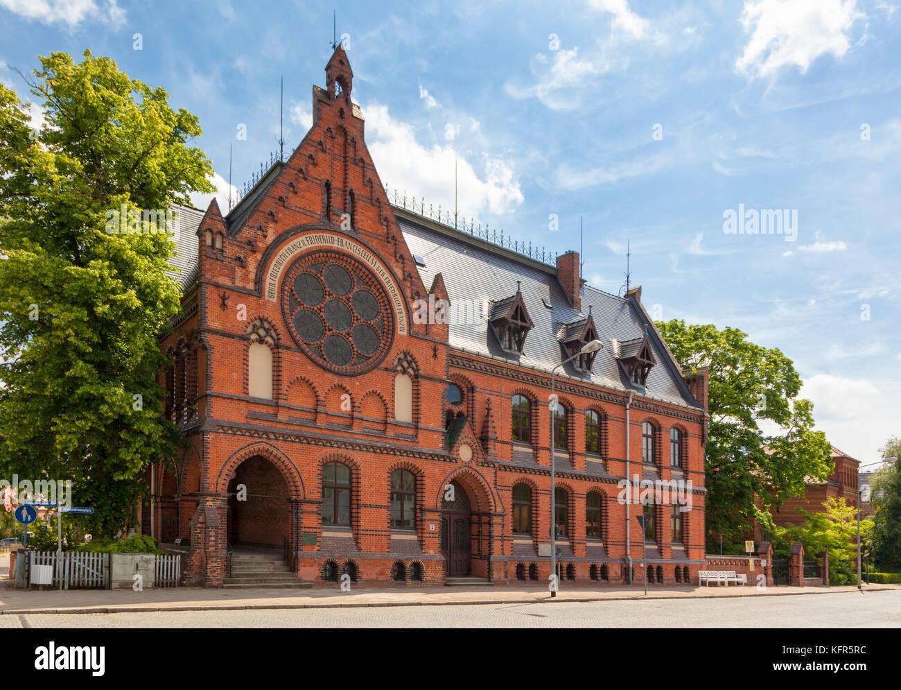 Friderico Francisceum high school, Bad Doberan, Mecklenburg-West Pomerania, Germany - Stock Image