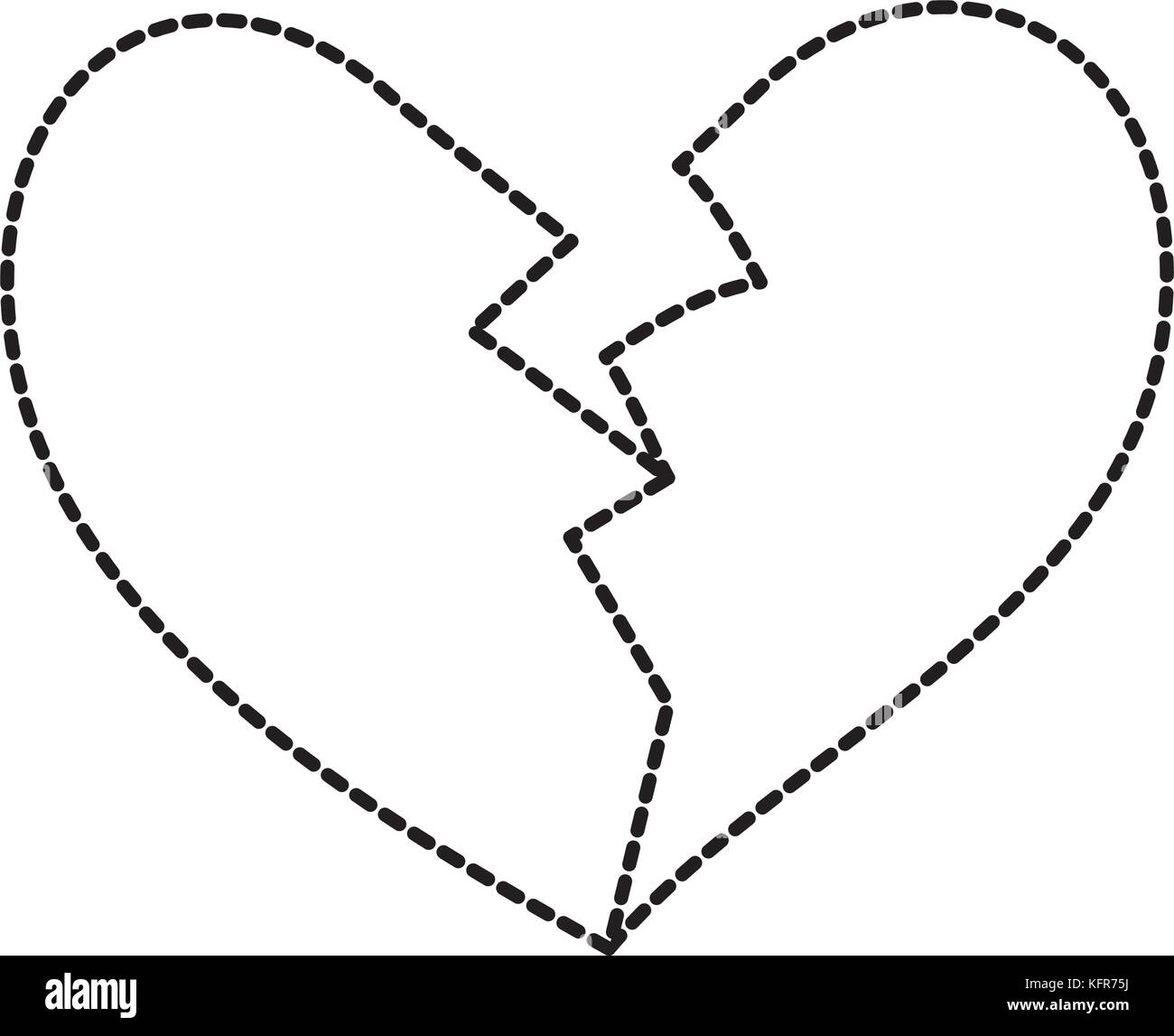 Broken heart black and white stock photos images alamy broken heart icon divorce end of love symbol stock image biocorpaavc Images