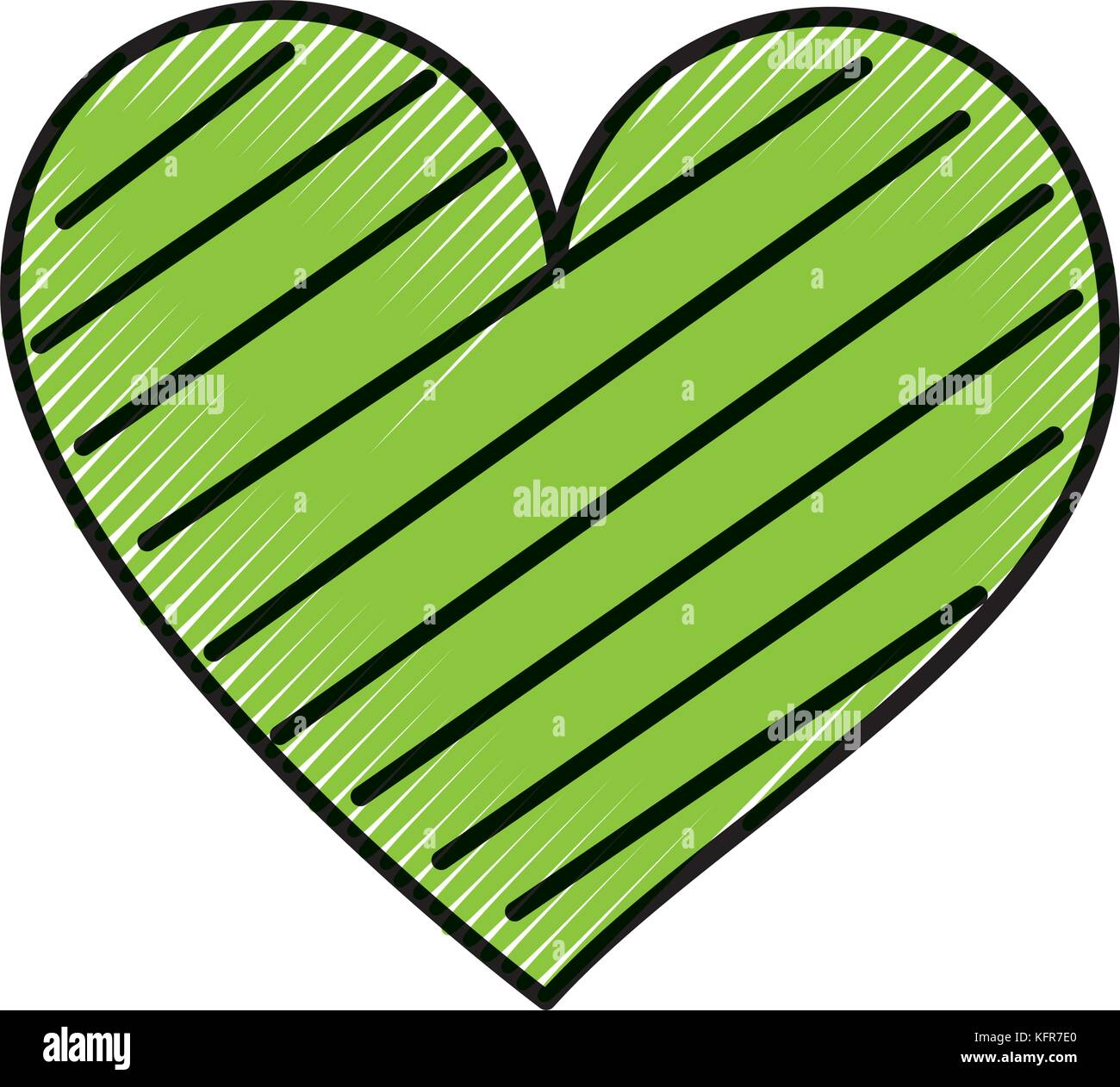 heart love romance passion decorate stripes Stock Vector