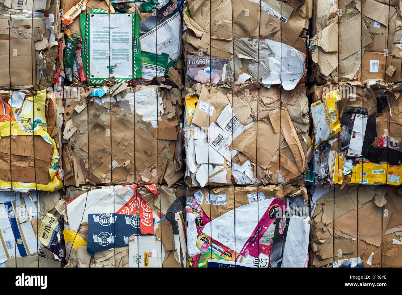 Household waste recycling collection - Stock Image