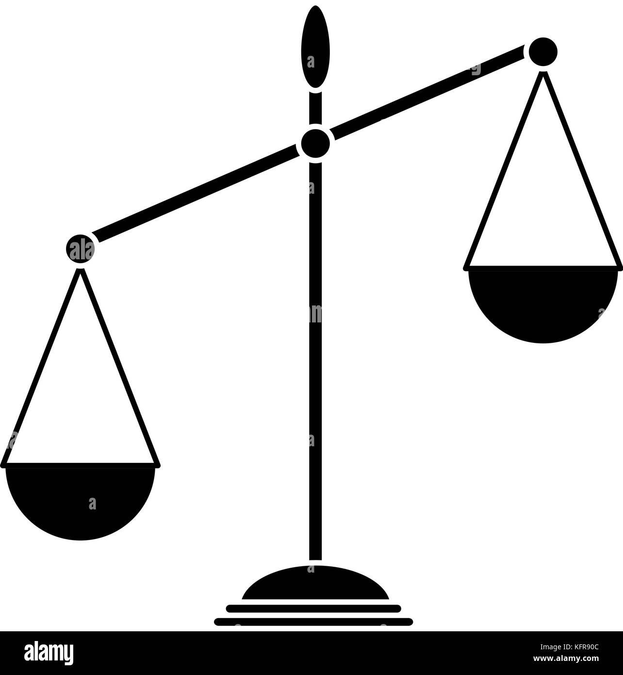 Balance scale stock photos balance scale stock images alamy balance scale isolated icon stock image biocorpaavc Images