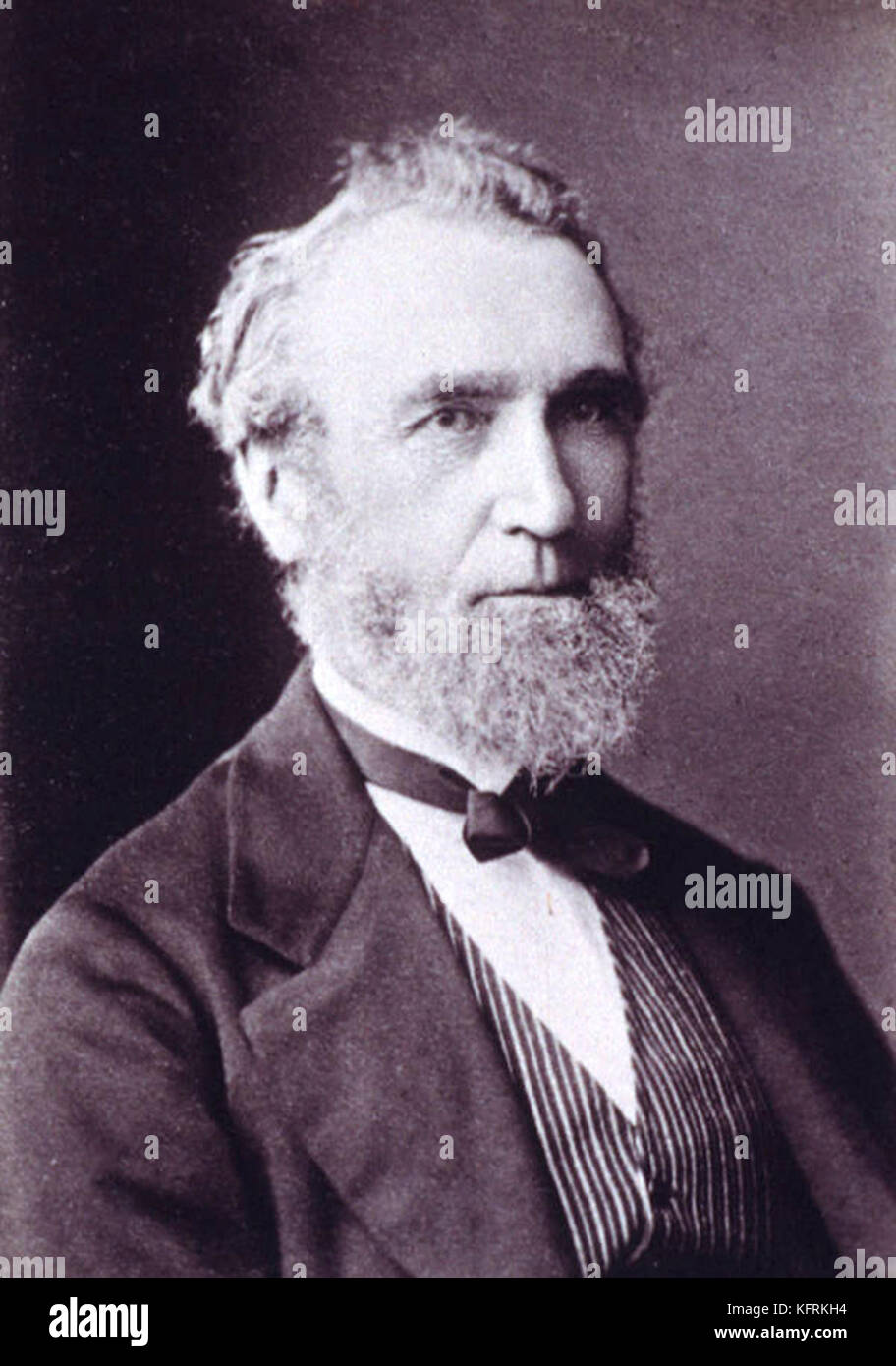 Frederick Maitland Innes, Premier of Tasmania from 4 November 1872 to 4 August 1873 - Stock Image