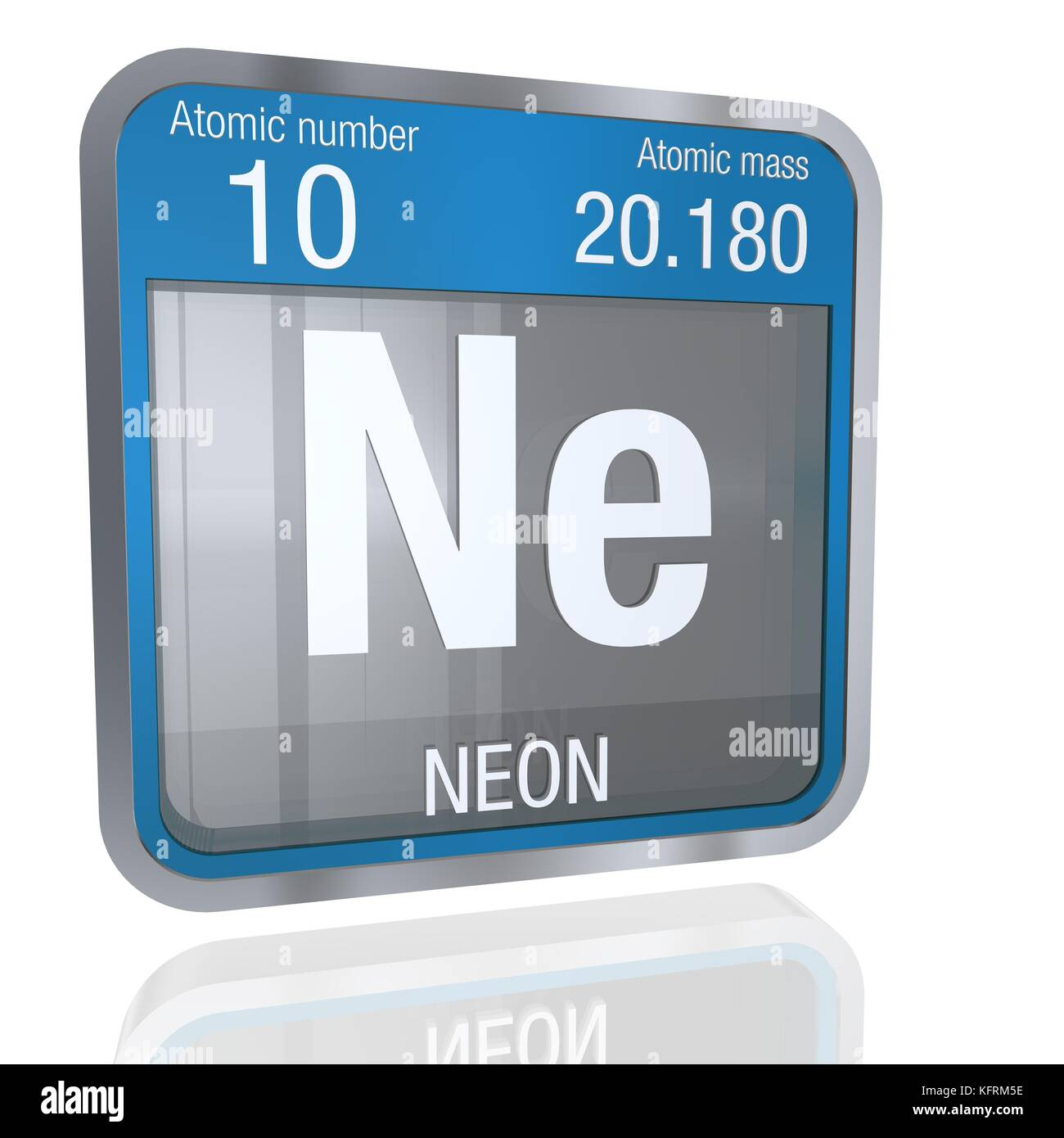 Neon atomic structure stock photos neon atomic structure stock neon symbol in square shape with metallic border and transparent background with reflection on the floor urtaz Images