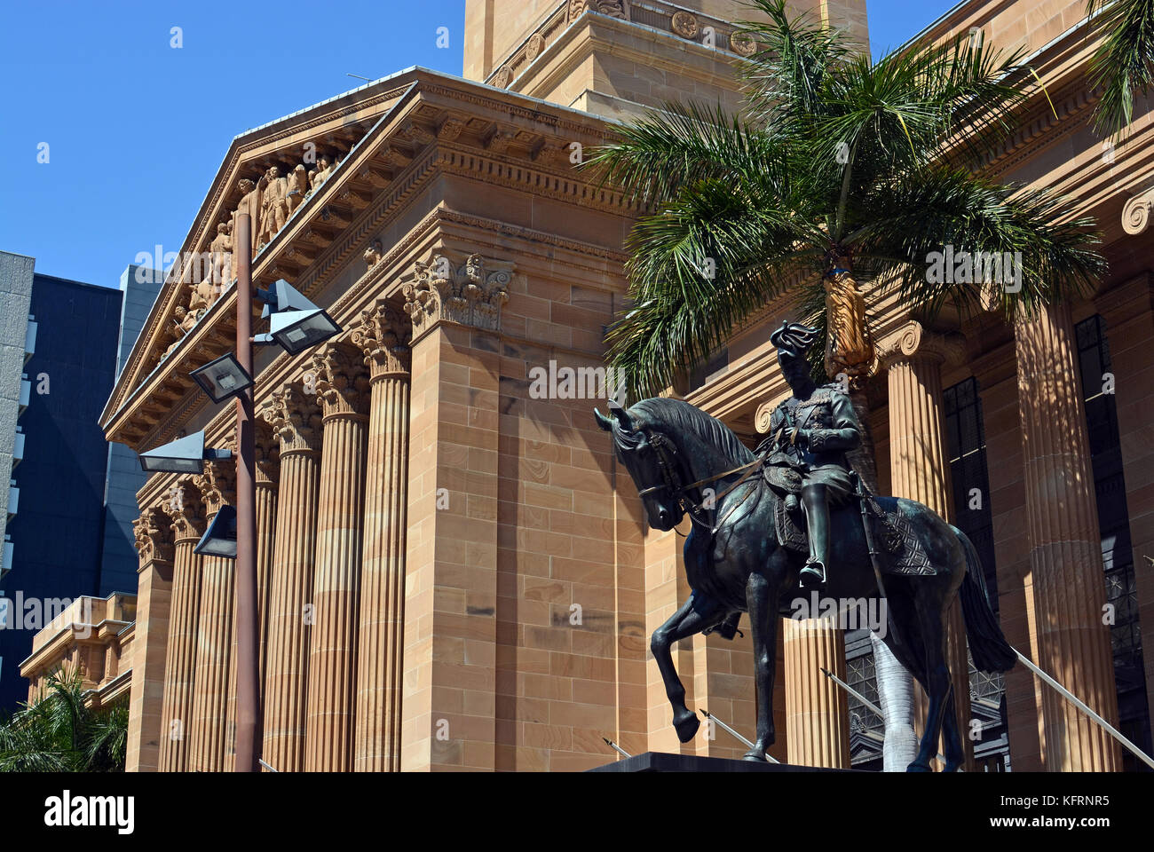 Brisbane City Hall on a Spring Morning, Queensland Australia. - Stock Image
