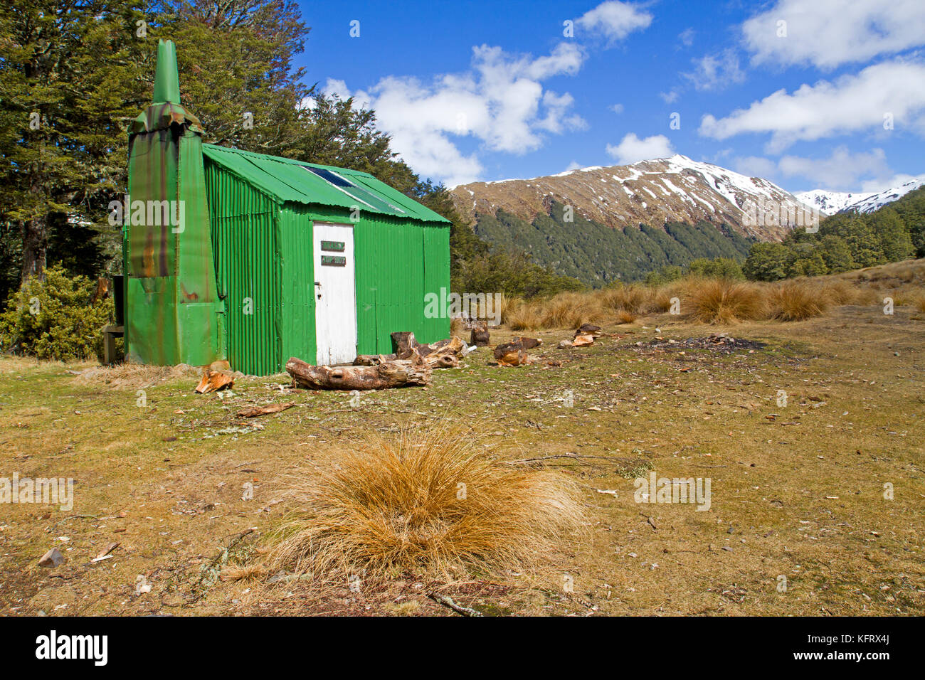 Bealey Spur Hut in Arthur's Pass National Park - Stock Image