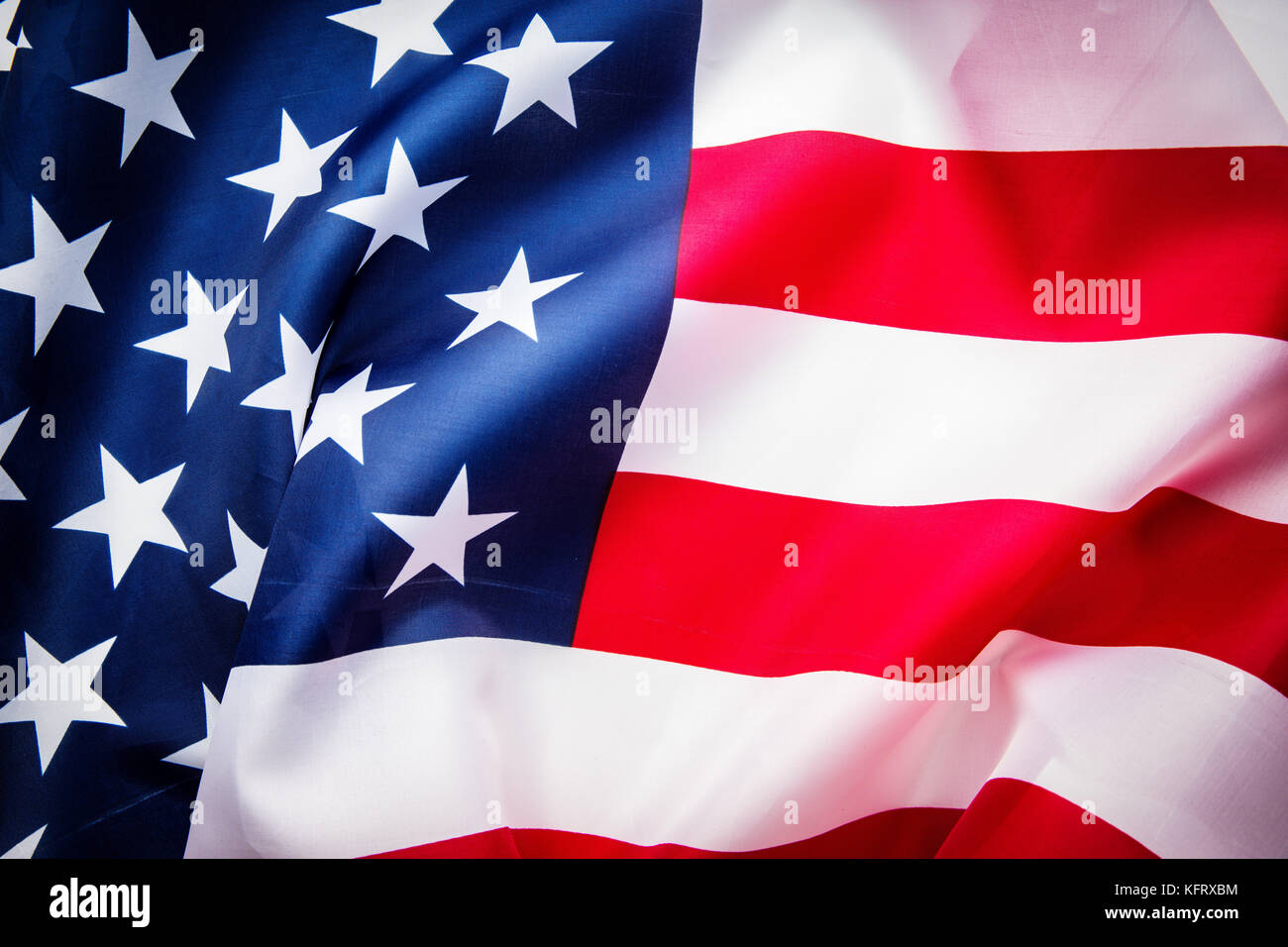 usa flag background top view