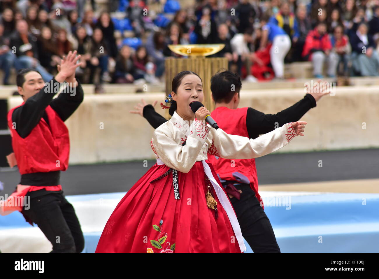 Athens, Greece. 31st Oct, 2017. During the Republic of Korea's Cultural event. The Handover Ceremony of the Olympic Stock Photo