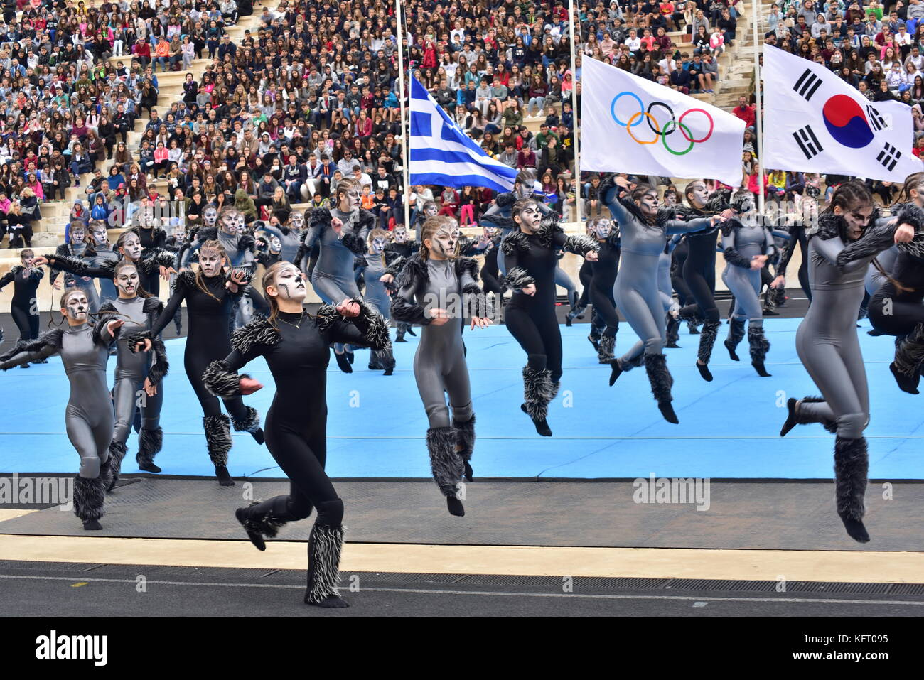 Athens, Greece. 31st Oct, 2017. During the Greek Sport and Cultural event. The Handover Ceremony of the Olympic Stock Photo