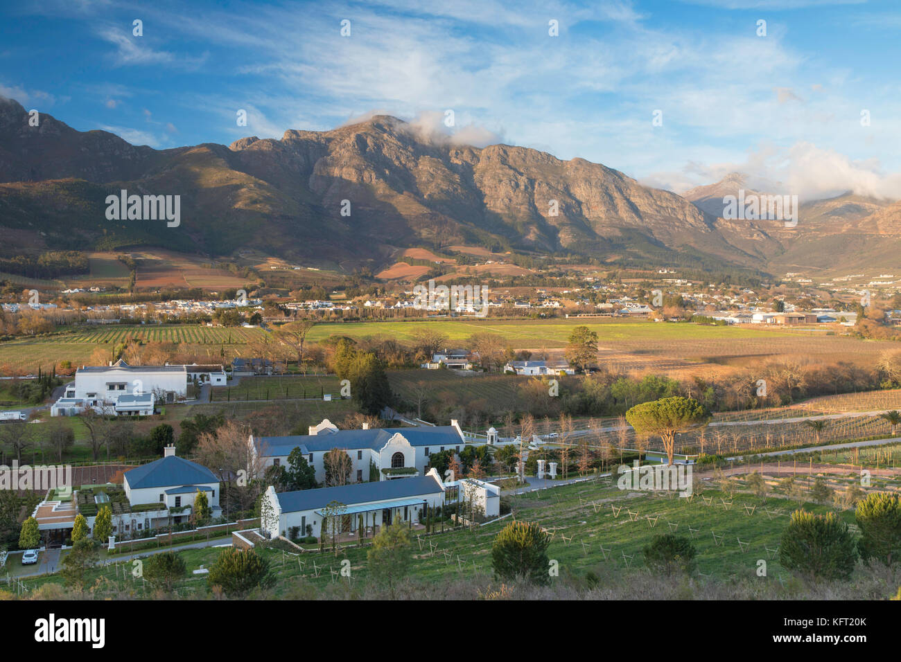 Mullineux and Leeu Family Wines Estate, Franschhoek, Western Cape, South Africa - Stock Image