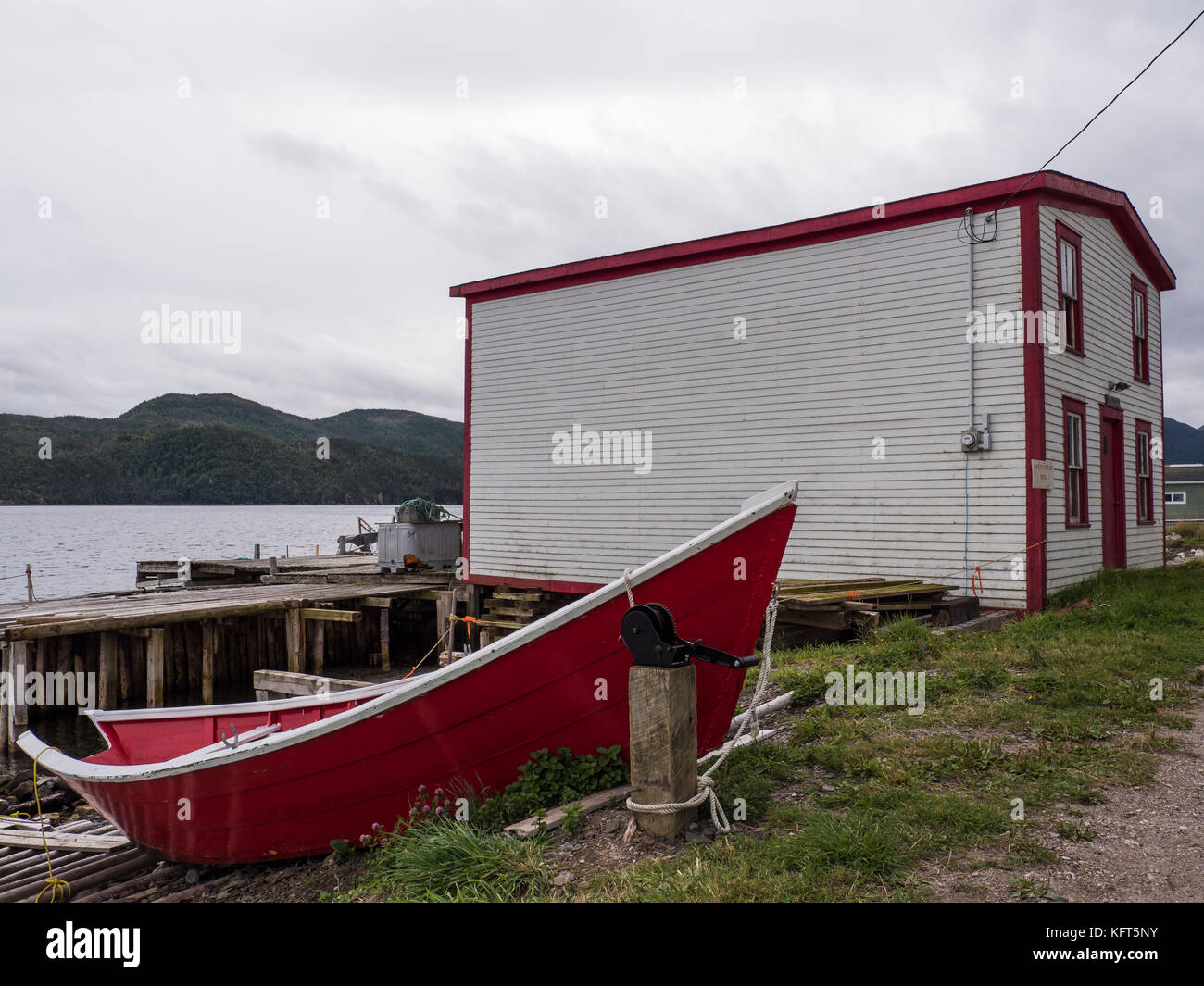 Roberts Store historical building, Woody Point, Newfoundland, Canada. - Stock Image
