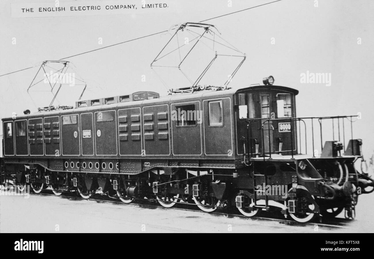 AJAXNETPHOTO. 1920-28 (APPROX). LOCATION UNKNOWN. - LARGE ELECTRIC LOCOMOTIVE MANUFACTURED BY ENGLISH ELECTRIC COMPANY, Stock Photo