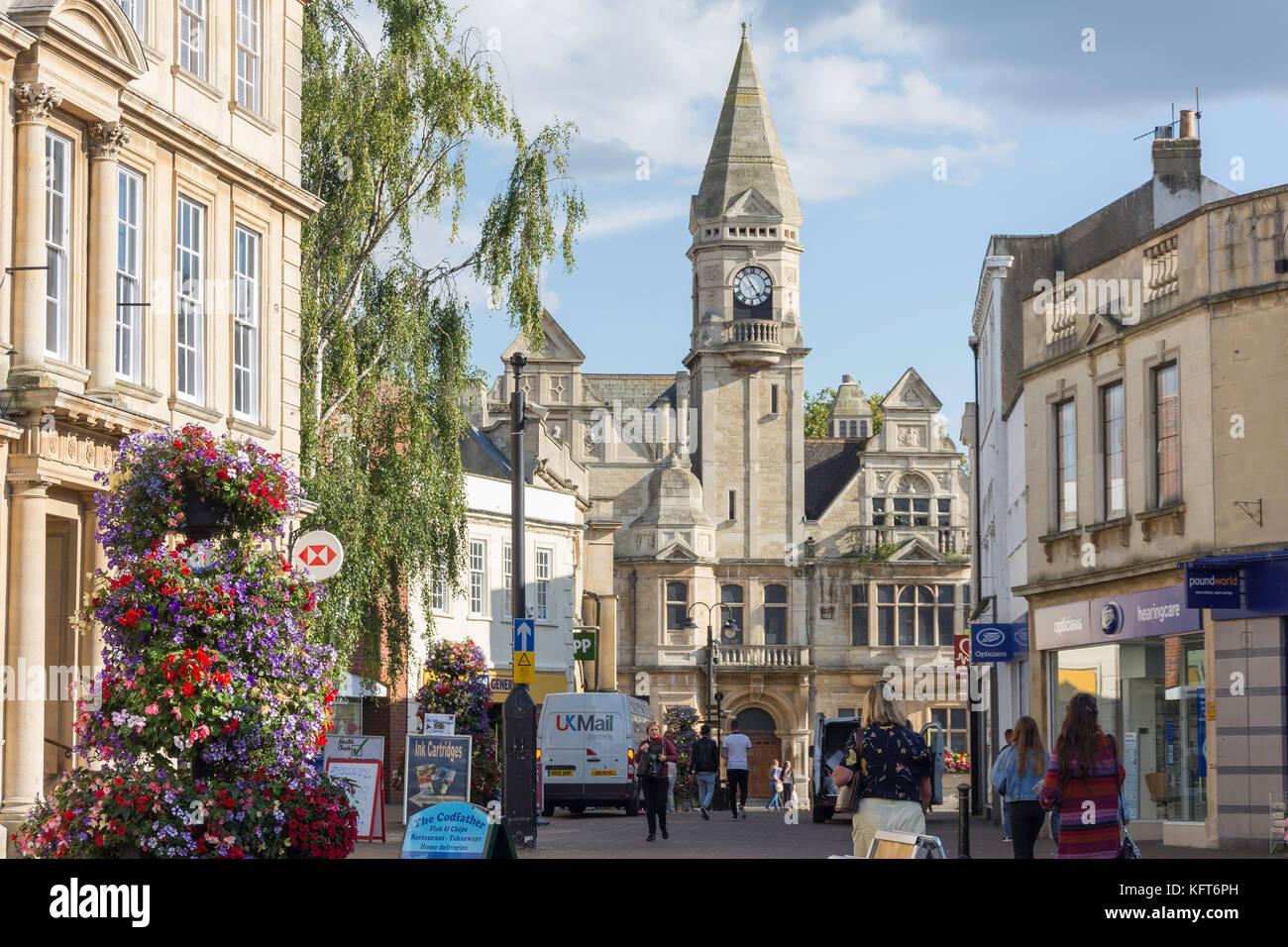 Trowbridge Town Hall, Fore Street, Trowbridge, Wiltshire, England, United Kingdom - Stock Image