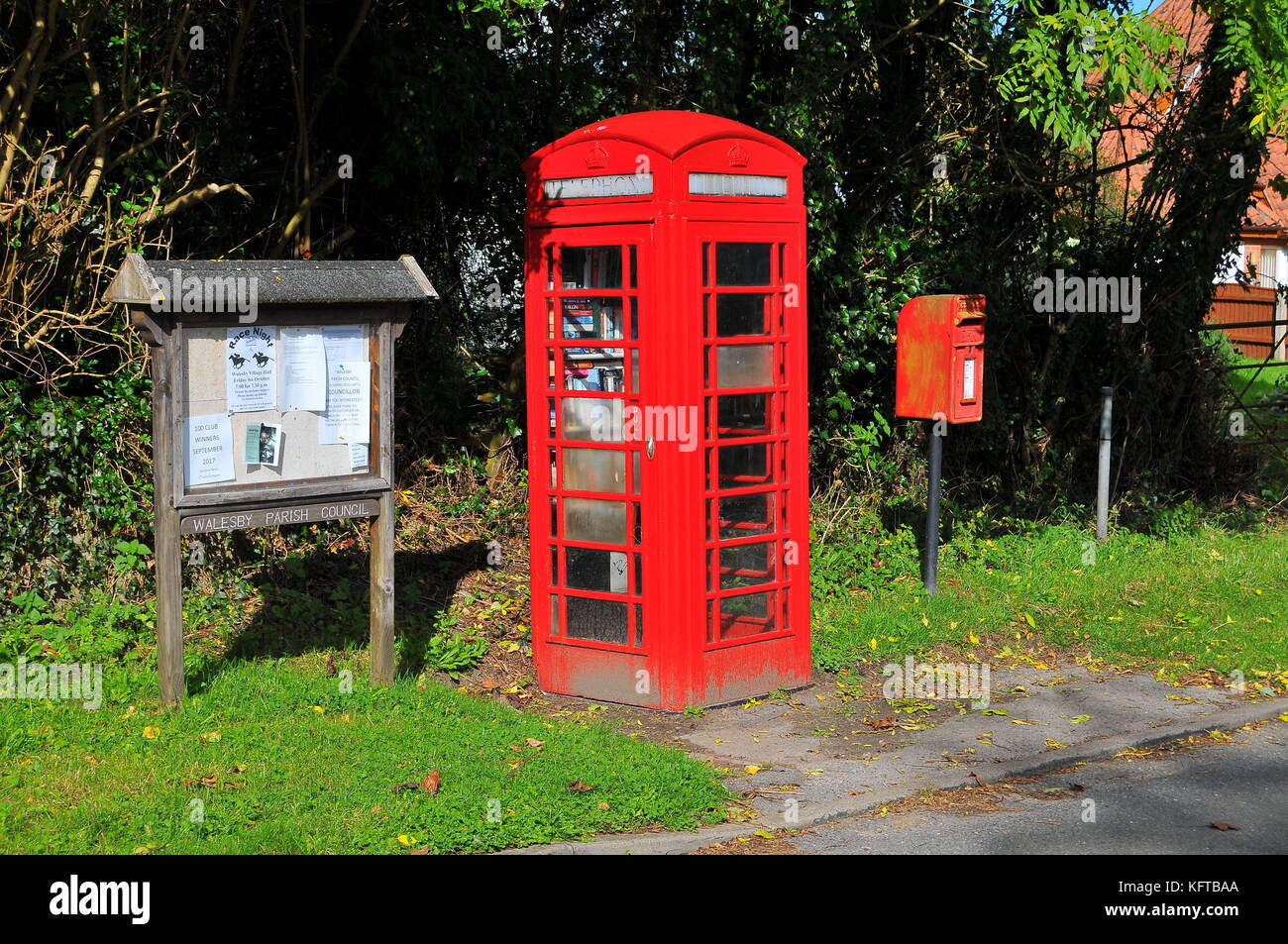 Old red telephone box - Stock Image