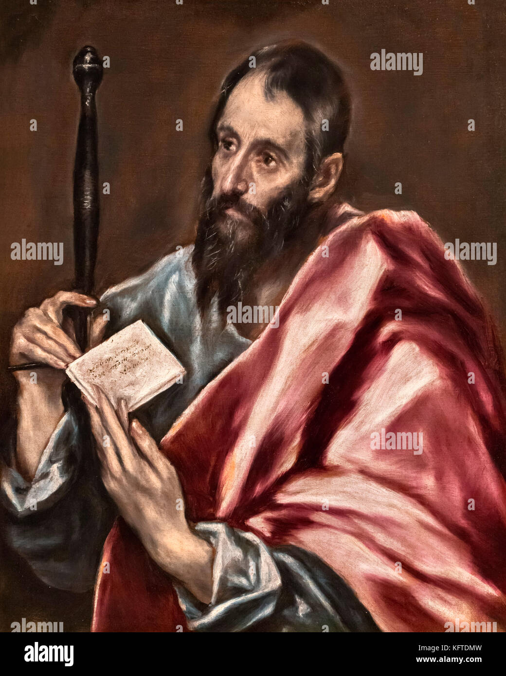 St Paul by El Greco (Domenikos Theotokopoulos, 1541-1614), oil on canvas, c.1598-1600 - Stock Image