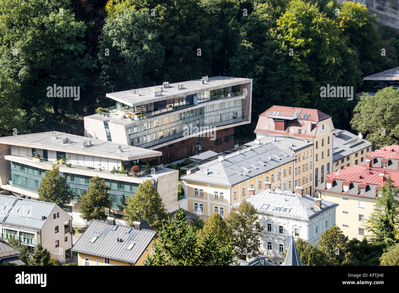 Jewels of Salzburg, Housing development designed by Hariri and Hariri Architecture, Salzburg, Austria - Stock Image