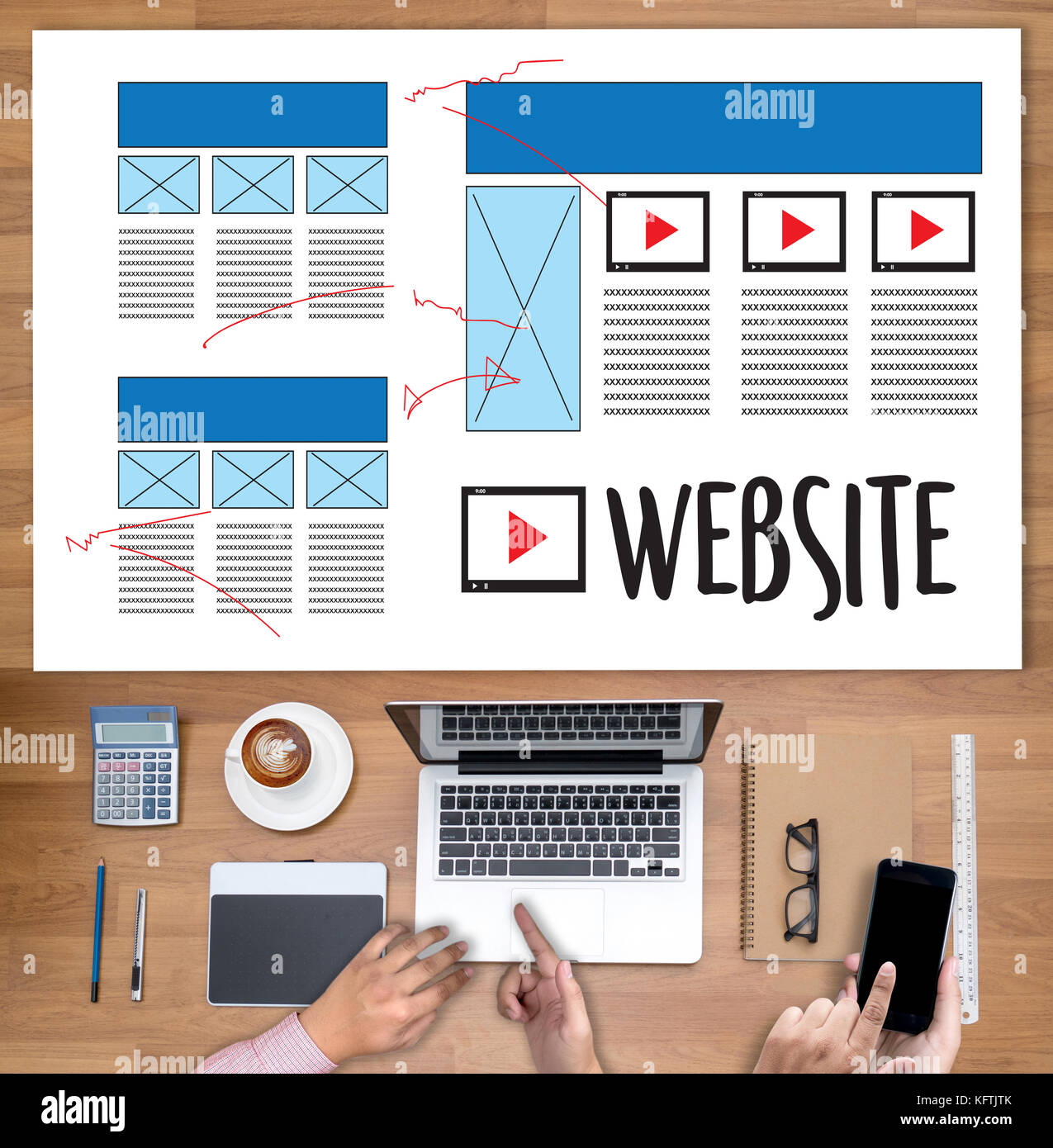 Web Design layout sketch drawing Software Media WWW and Graphic ...