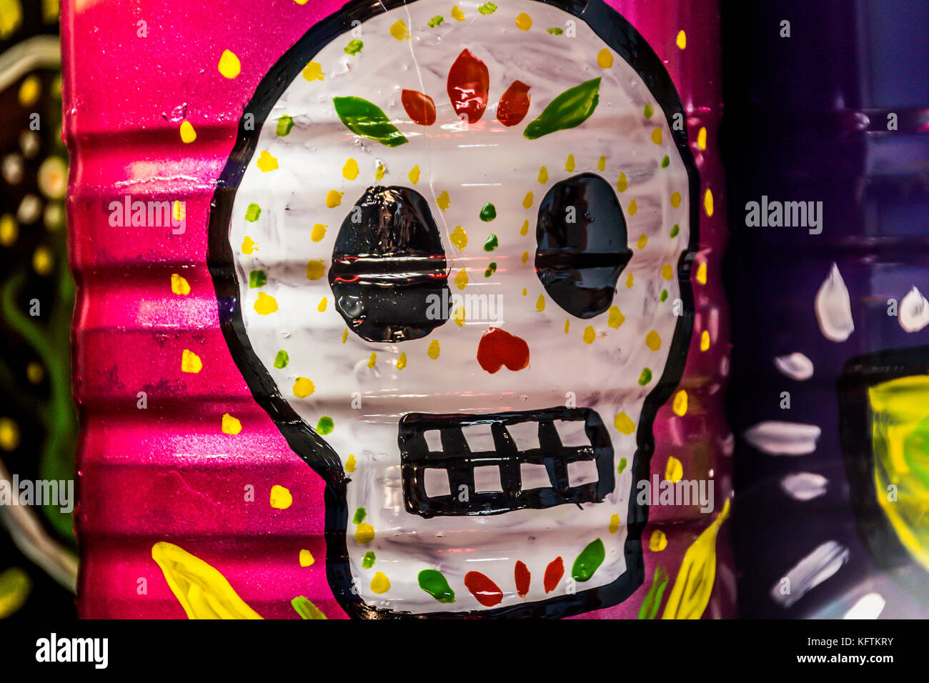 Photograph Of A Skull Mexican Symbol Traditional Day The Dead Celebration