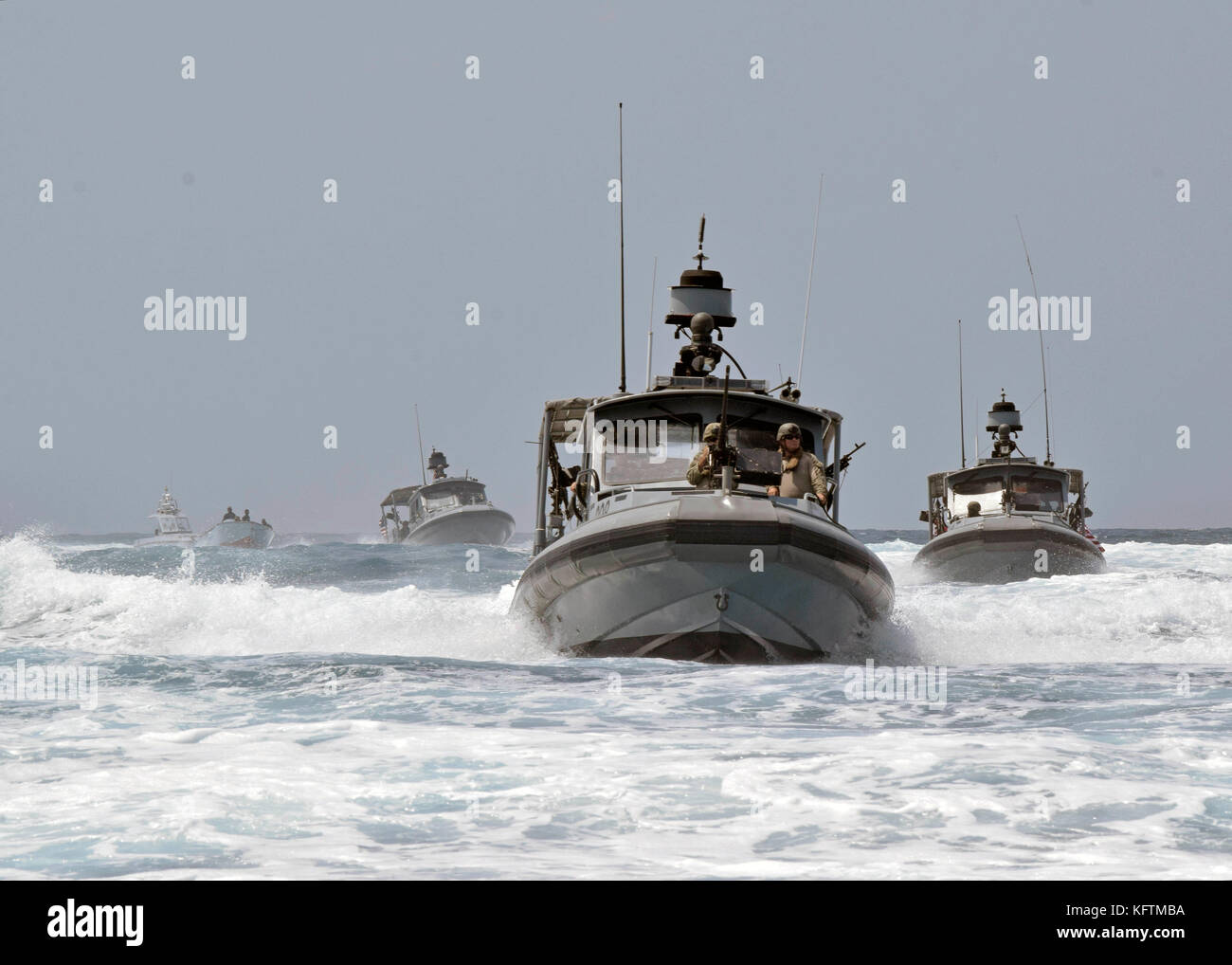 Sailors assigned to Coastal Riverine Squadron (CRS) 1 Stock Photo
