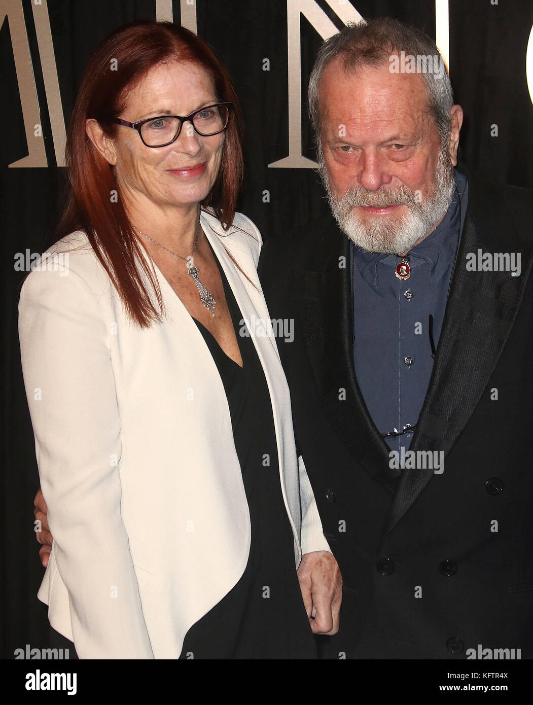Oct 03, 2017 - Terry Gilliam and his wife Maggie Weston attending 'BFI Luminous Fundraising Gala at The Guildhall - Stock Image