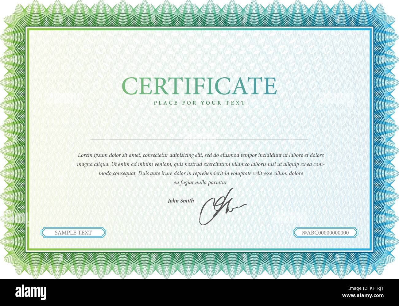 Certificate Achievement Template In Vector Stock Photos