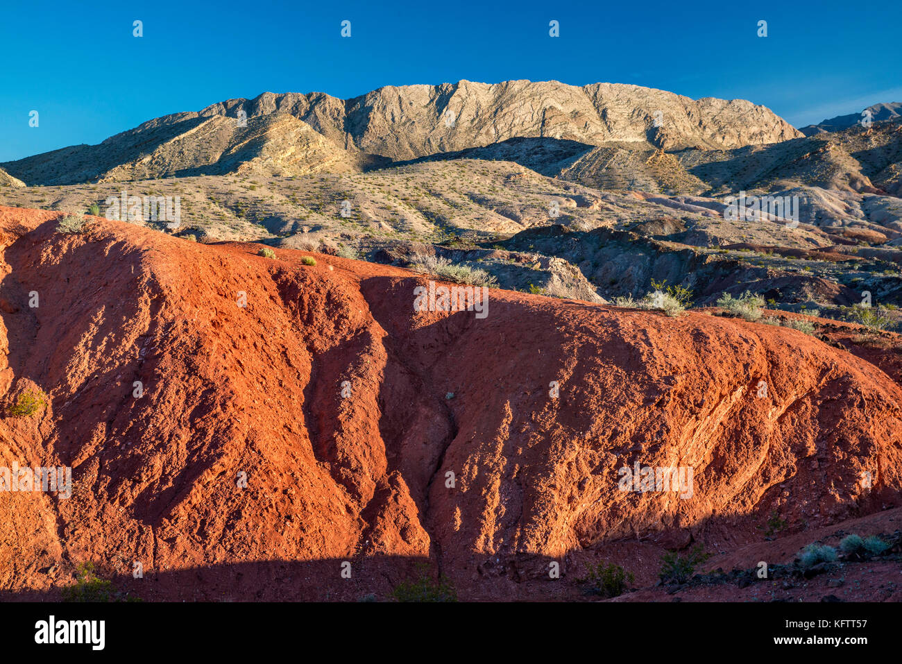 Rock formations, unnamed hills, view from Northshore Road, Lake Mead National Recreation Area, Nevada, USA - Stock Image