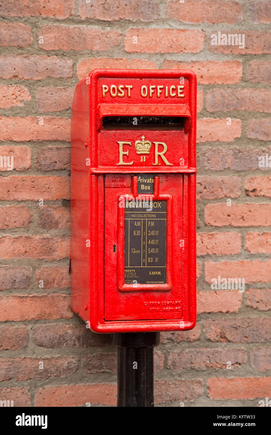 traditional letterbox, Bushmills, Co. Antrim, Northern Ireland - Stock Image