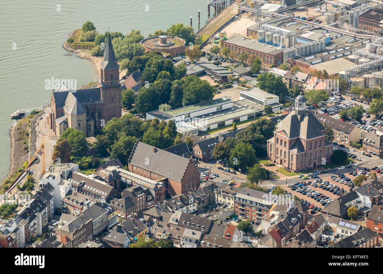 Stadtwerke energy suppliers, Emmerich - Ghost Market, Town Hall, St.Martini Emmerich, Emmerich, Lower Rhine, North - Stock Image