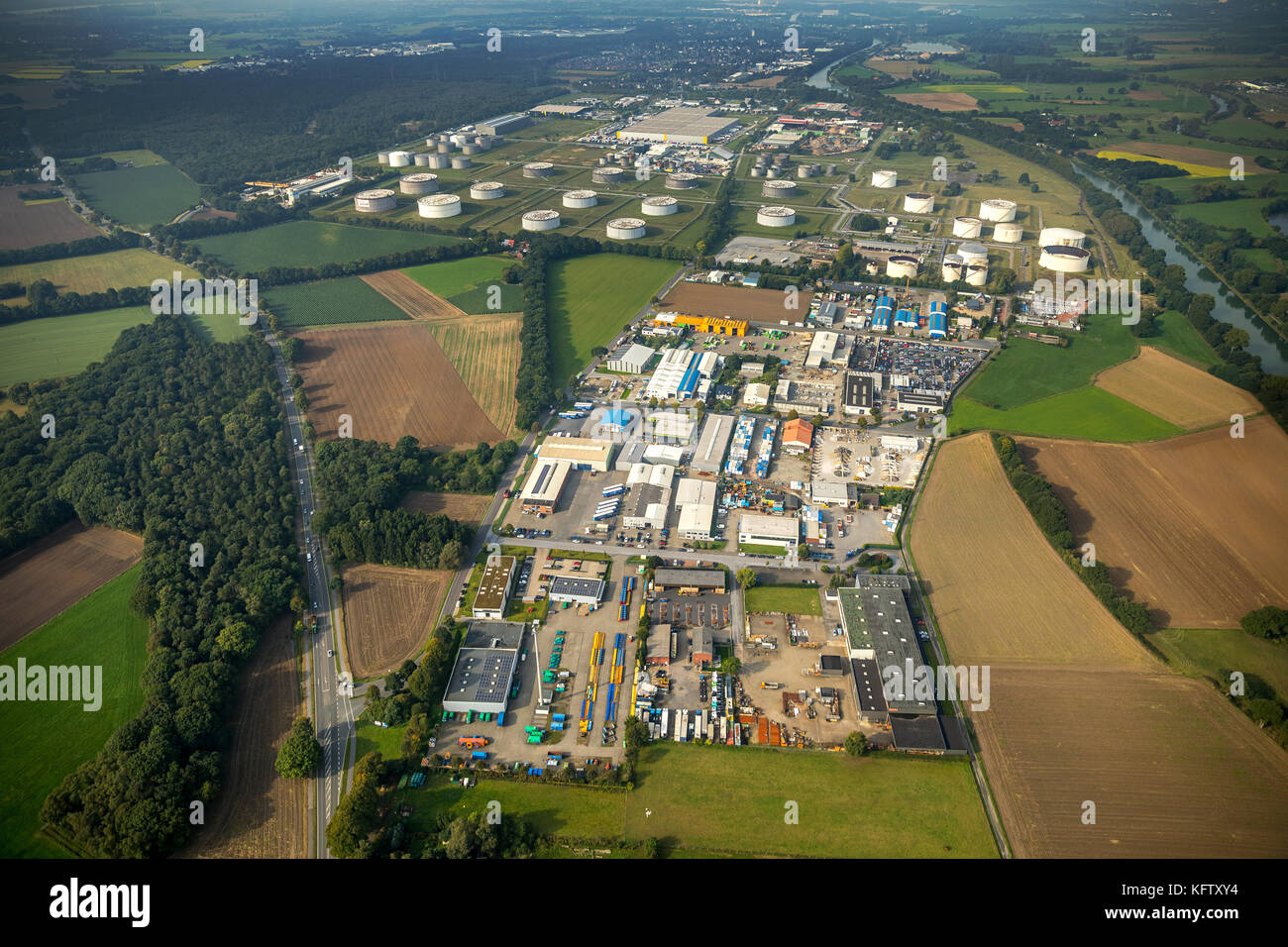 Hünxe, LGI Logistics Group International GmbH, SF Soepenberg GmbH, recyclers Franz-Josef Kipp, Hünxe, - Stock Image