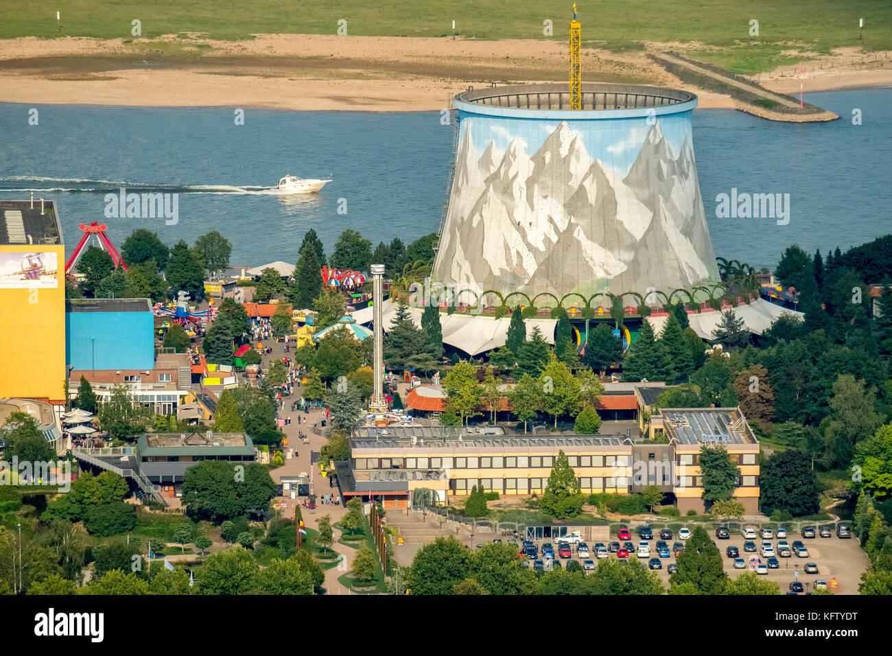 Wunderland Kalkar, amusement park, a former nuclear power plant Kalkar am Rhein, core water wonderland painted cooling - Stock Image