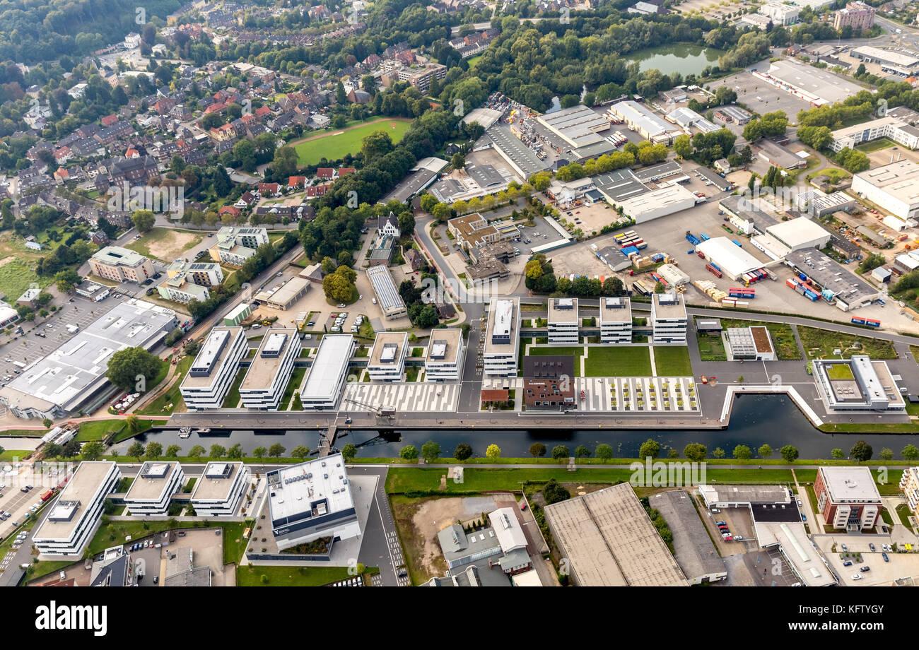 Hochschule Rhein-Waal am Spoykanal, Universität,  Kleve, Niederrhein, Nordrhein-Westfalen, Deutschland - Stock Image