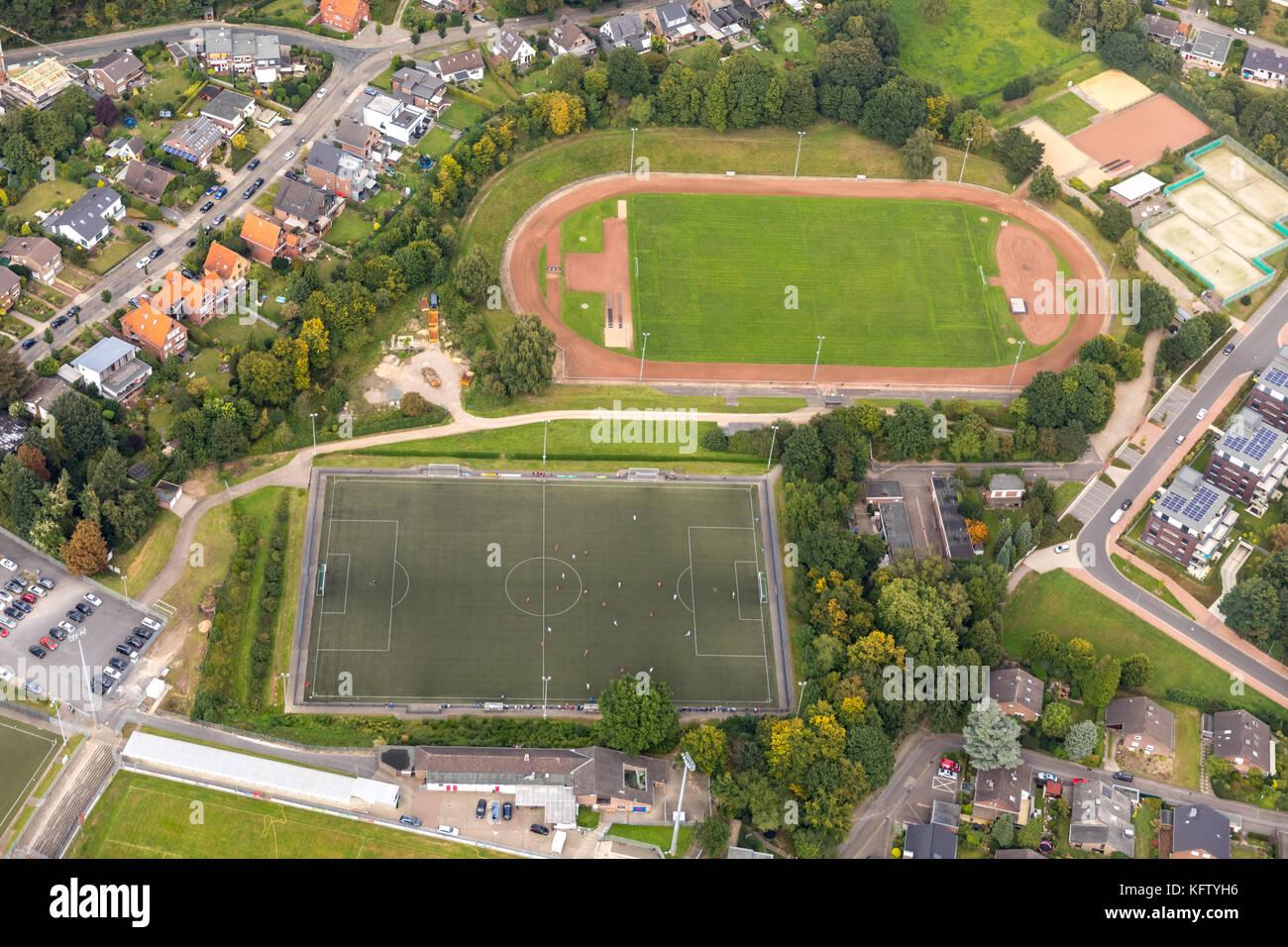Fußballstadion, Gustav-Hoffmann-Stadion, Sportanlagen,  Kleve, Niederrhein, Nordrhein-Westfalen, Deutschland Stock Photo