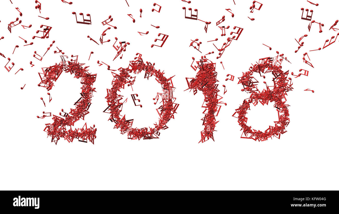 Happy New Year 2018 Cut Out Stock Images & Pictures - Alamy
