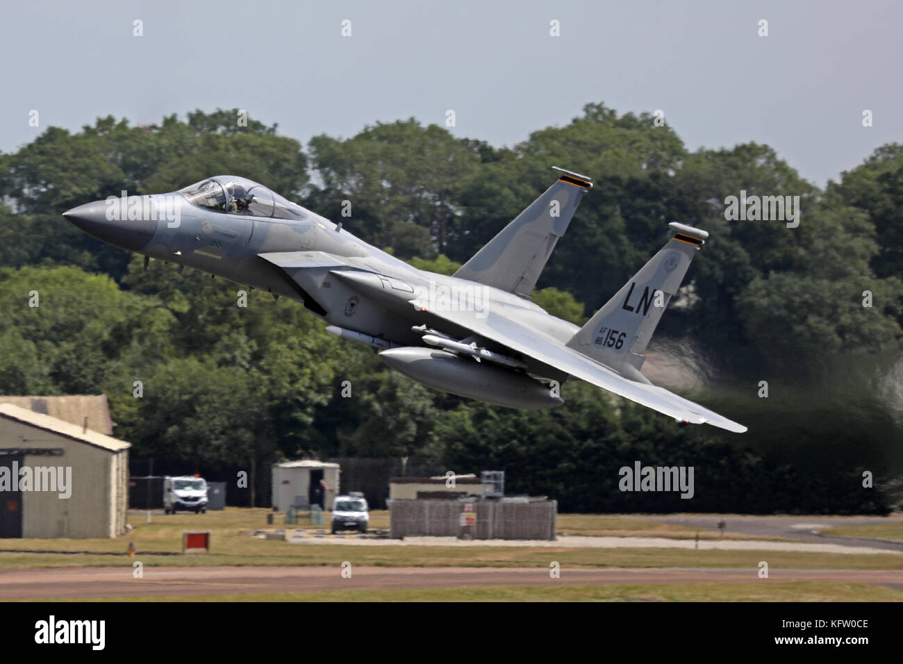 F15 Fighter Take off Stock Photo