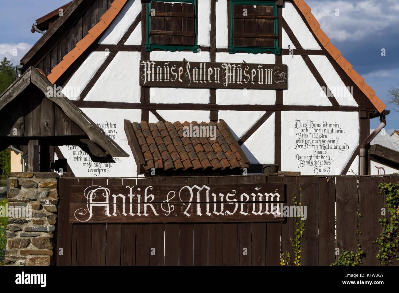 Güntersberge Blick auf das Mausefallen Museum Stock Photo