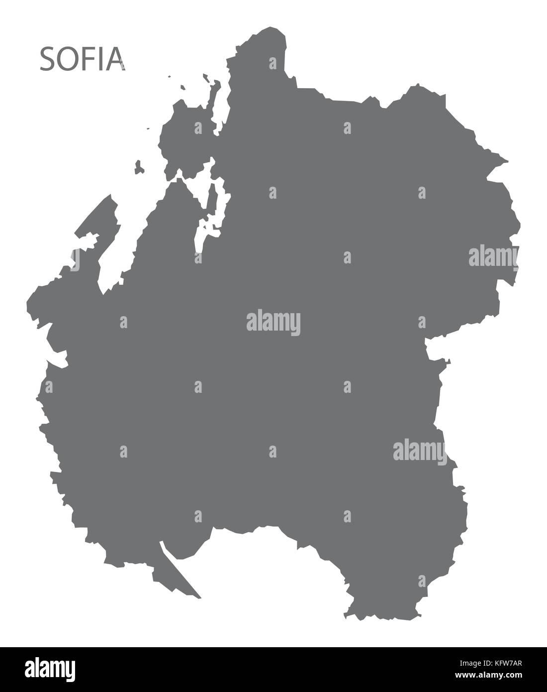 Sofia region map of Madagascar grey illustration silhouette shape Stock Vector
