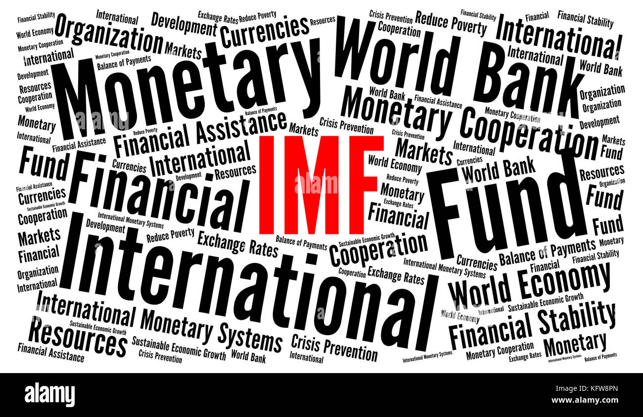 IMF word cloud concept Stock Photo: 164668861 - Alamy