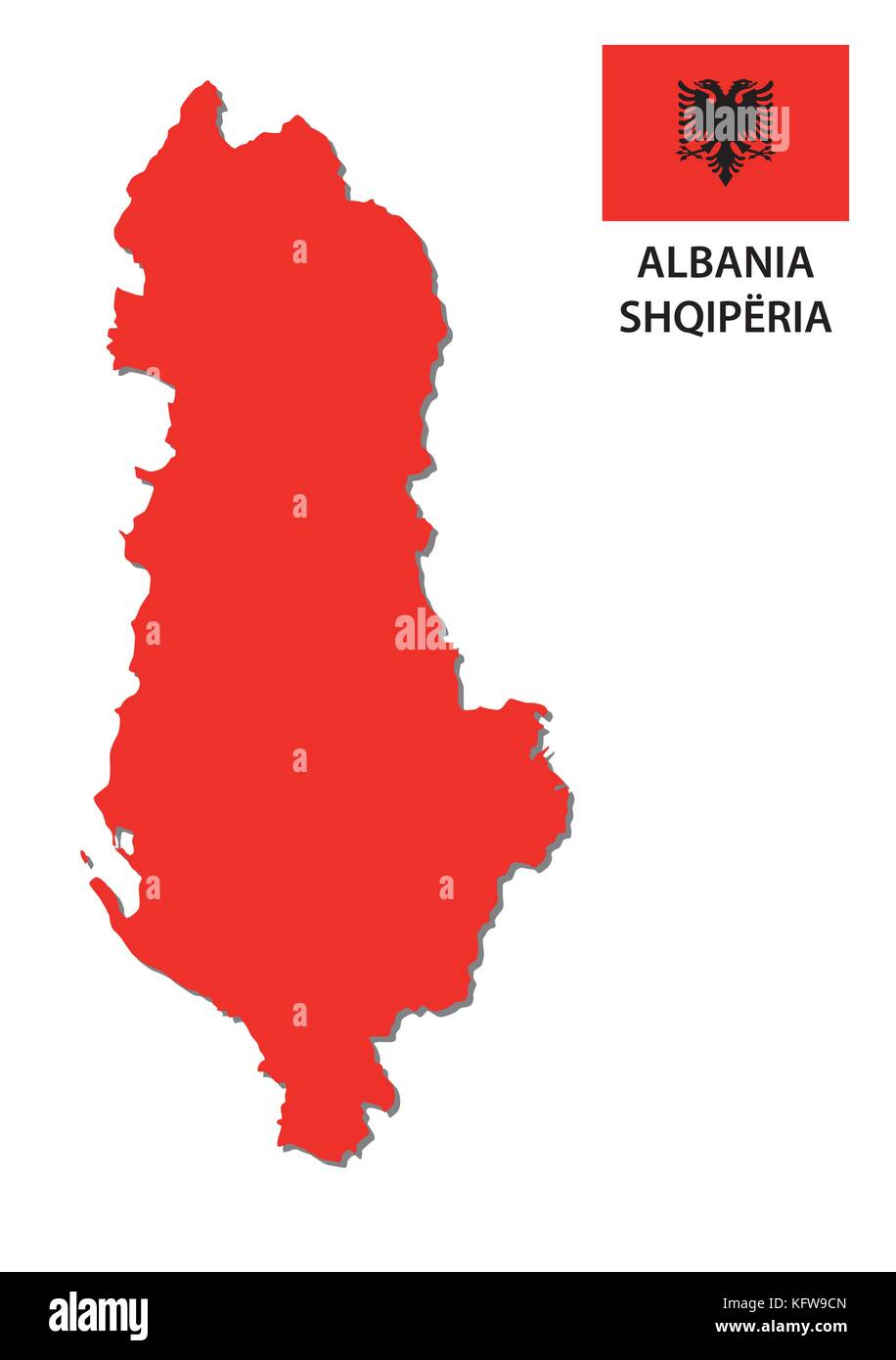 Simple world map outline stock vector images alamy red albania vector map with flag stock vector gumiabroncs Image collections