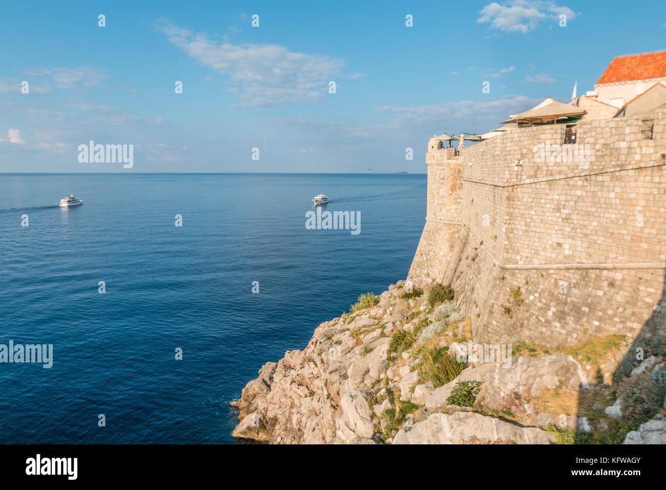 City walls of Dubrovnik Croatia - Stock Image