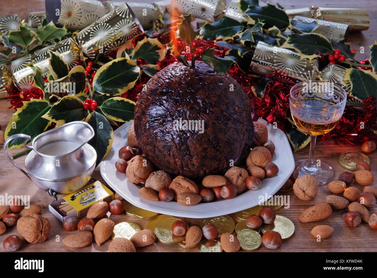 Christmas pudding - Stock Image