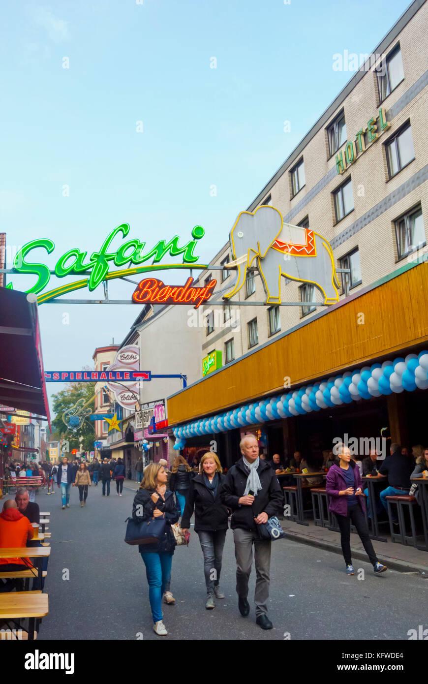 Grosse Freiheit street, St Pauli district, Hamburg, Germany - Stock Image