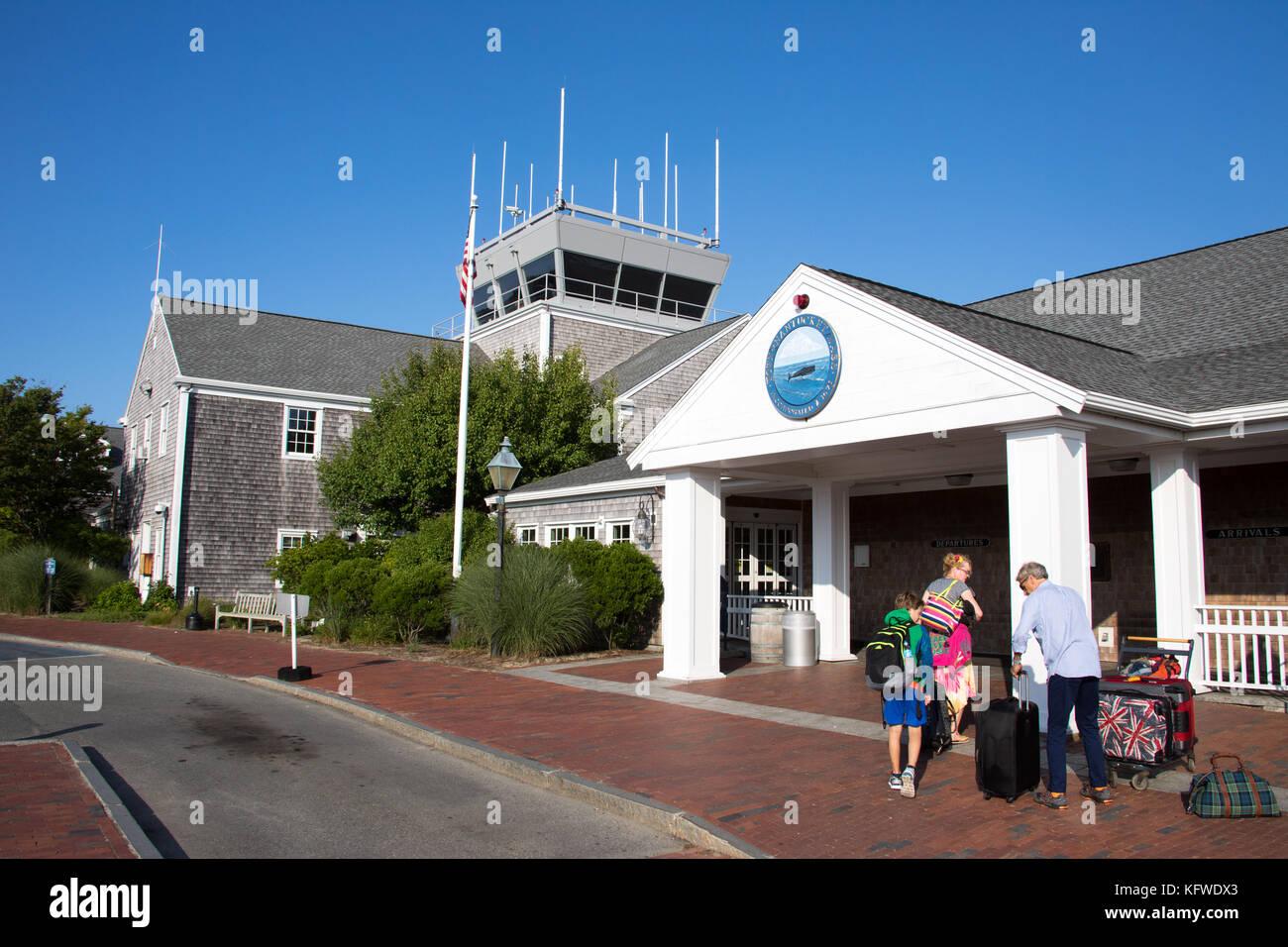 Nantucket Memorial Airport, ACK, Nantucket, Massachusetts, USA - Stock Image
