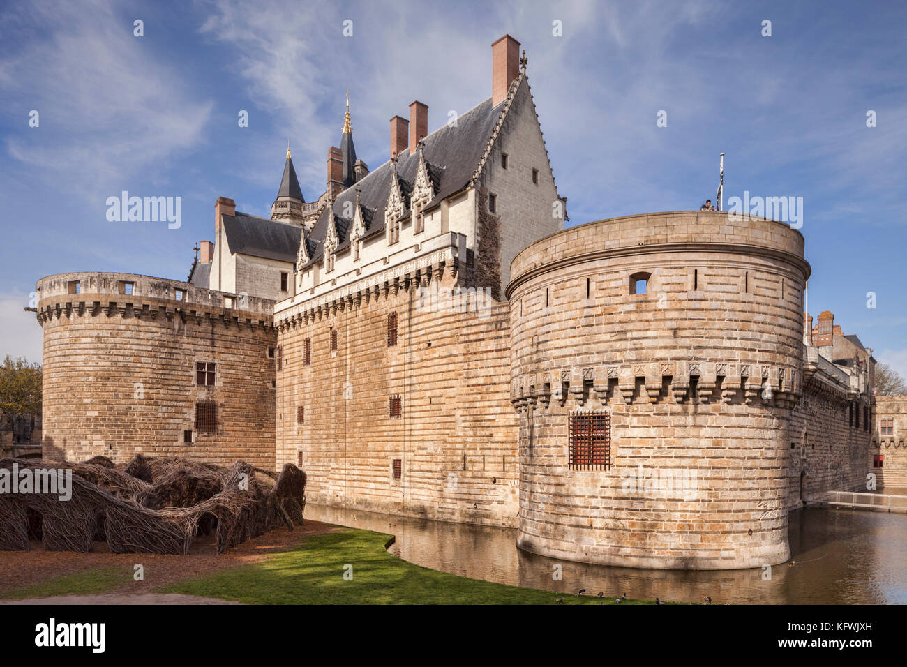 Chateau of the Dukes of Brittany, Nantes, Loire Atlantique, France. Stock Photo