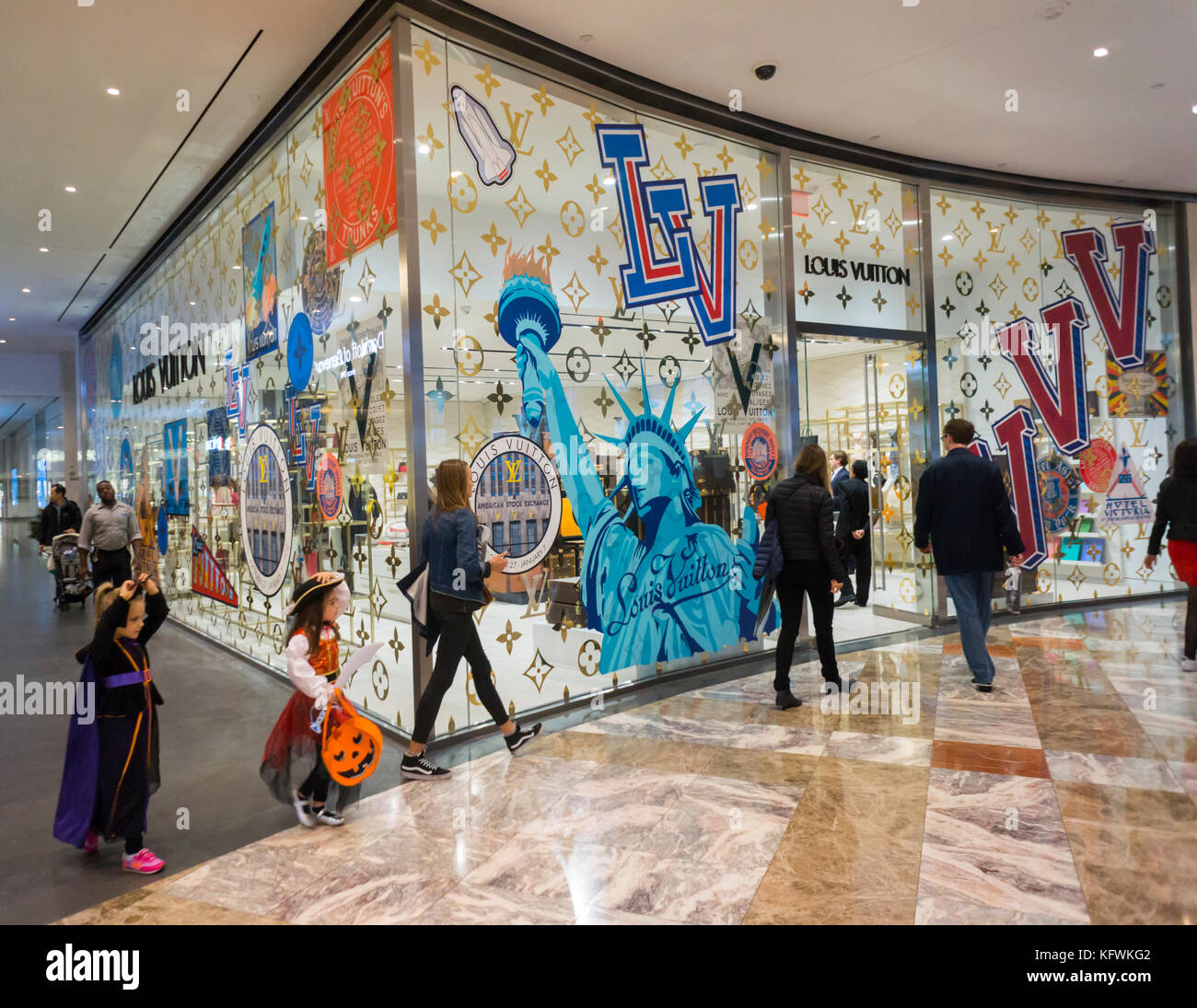 64f072b61ddc The Louis Vuitton pop-up store in the Brookfield Place mall in New York on  Sunday