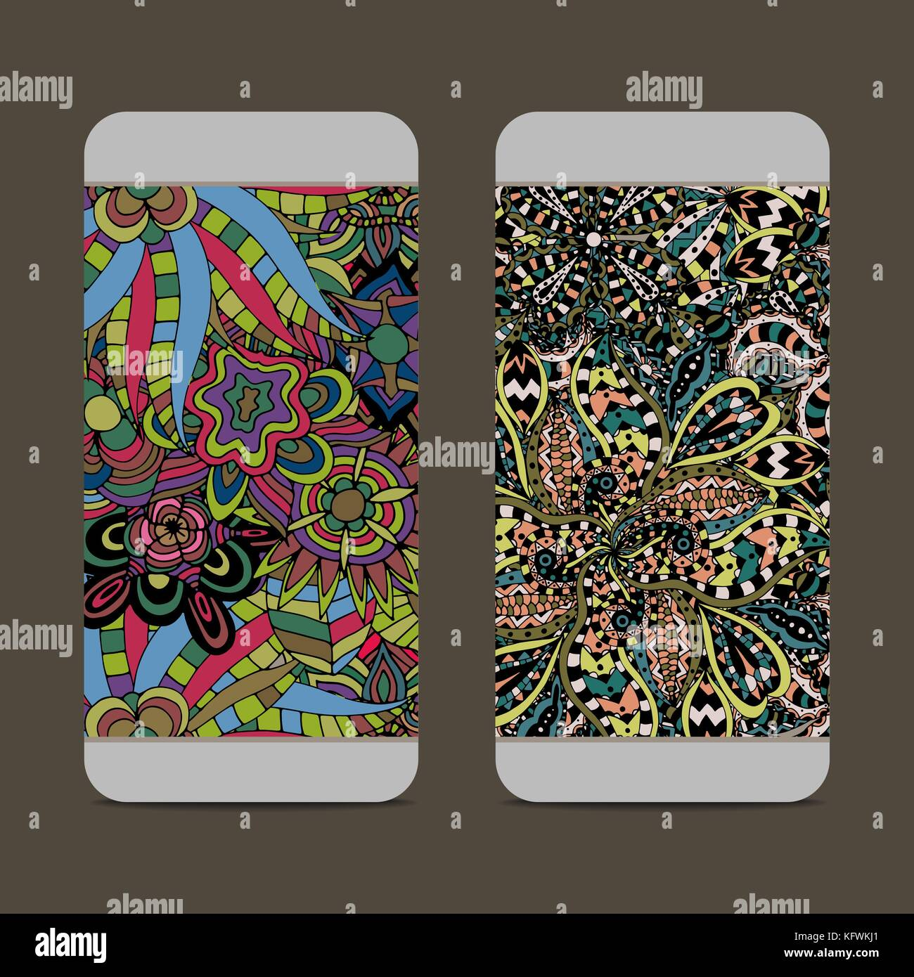 Seamless vector illustration with dream catchers iPhone 11 case